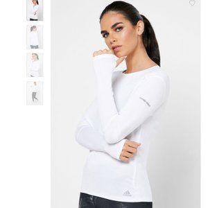 Adidas Run It Long Sleeve White Climalite T-Shirt